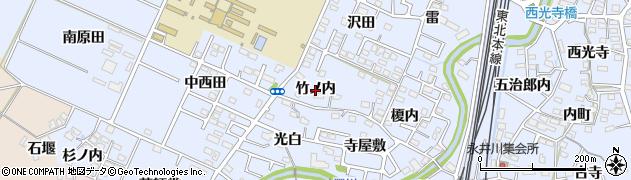 福島県福島市永井川(竹ノ内)周辺の地図