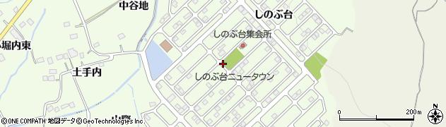 福島県福島市上鳥渡(しのぶ台)周辺の地図