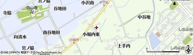 福島県福島市上鳥渡(小堀内東)周辺の地図
