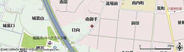 福島県福島市大森(南御手)周辺の地図