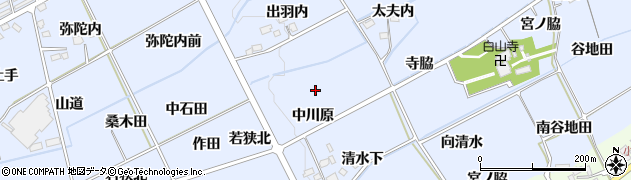 福島県福島市荒井(中川原)周辺の地図