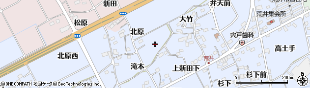 福島県福島市荒井(滝本)周辺の地図