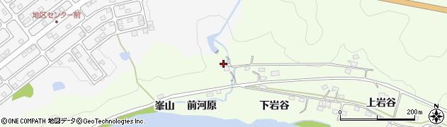 福島県福島市渡利(前河原)周辺の地図