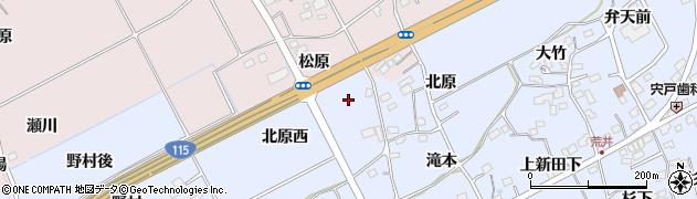 福島県福島市荒井(北原西)周辺の地図