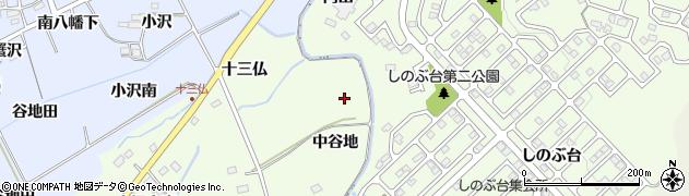 福島県福島市上鳥渡(中谷地)周辺の地図