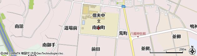 福島県福島市大森(南内町)周辺の地図