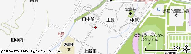 福島県福島市佐原周辺の地図