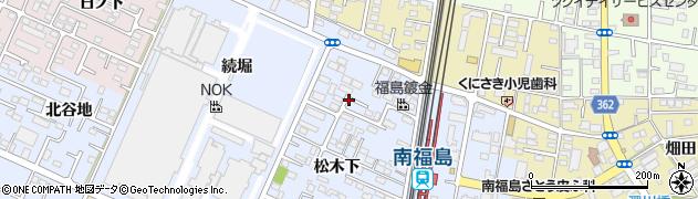 福島県福島市永井川(松木下)周辺の地図