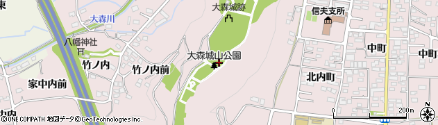 福島県福島市大森(本丸)周辺の地図