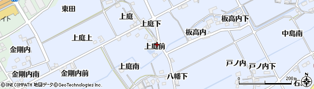 福島県福島市荒井(上庭前)周辺の地図