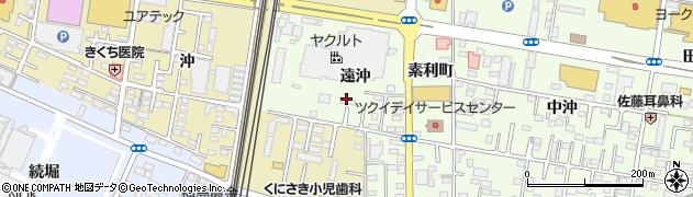 福島県福島市黒岩(遠沖)周辺の地図