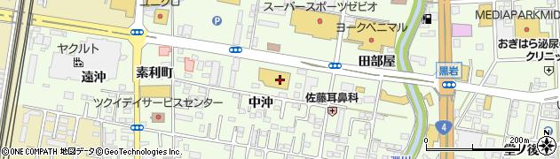 福島県福島市黒岩(中沖)周辺の地図