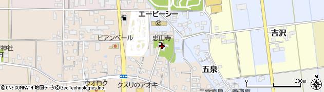 忠山寺周辺の地図
