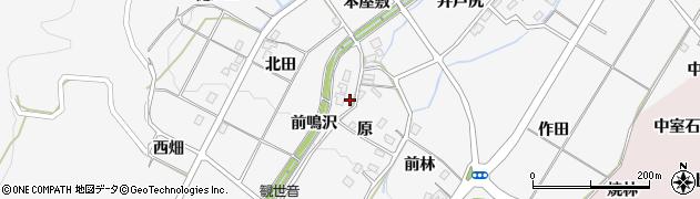福島県福島市佐原(前鳴沢)周辺の地図