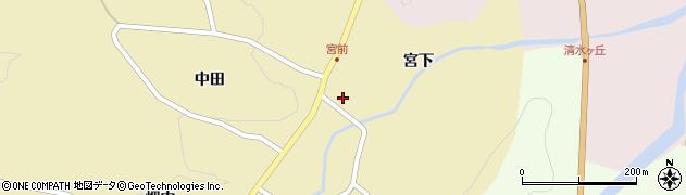 福島県伊達市月舘町糠田(宮下)周辺の地図