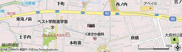 福島県福島市大森(塚越)周辺の地図