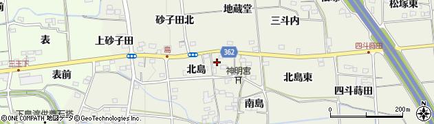 福島県福島市下鳥渡(北島)周辺の地図