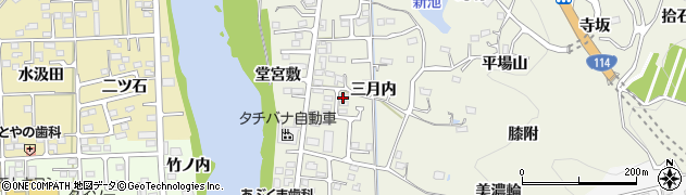 福島県福島市小倉寺(美濃輪下)周辺の地図