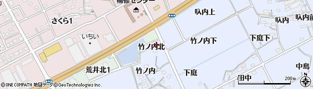 福島県福島市荒井(竹ノ内北)周辺の地図