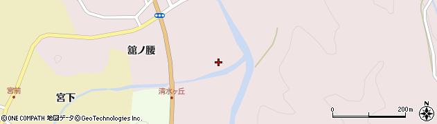 福島県伊達市月舘町月舘(松橋川原)周辺の地図