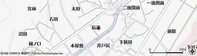 福島県福島市佐原(辰道)周辺の地図