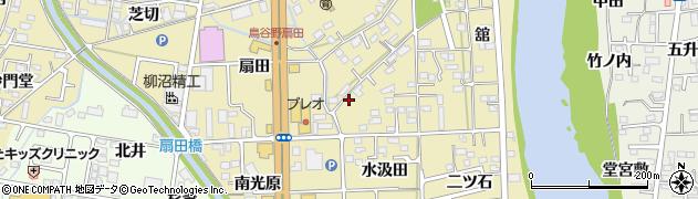 福島県福島市鳥谷野(水汲田)周辺の地図