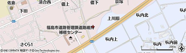 福島県福島市上名倉(榎)周辺の地図