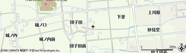 福島県福島市上鳥渡(団子田東)周辺の地図