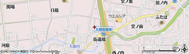 福島県福島市大森(上ノ台)周辺の地図