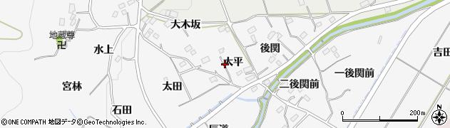 福島県福島市佐原(大平)周辺の地図