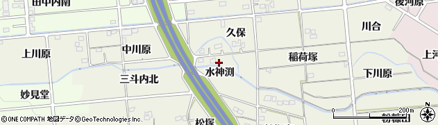 福島県福島市下鳥渡(水神渕)周辺の地図