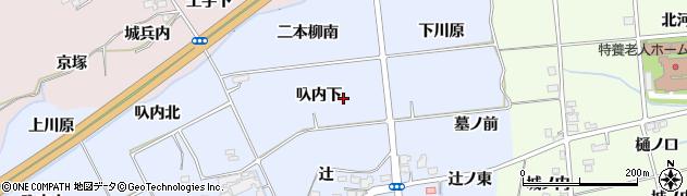 福島県福島市荒井(叺内東)周辺の地図