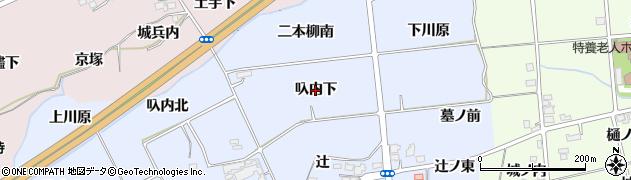 福島県福島市荒井(叺内下)周辺の地図