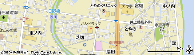 福島県福島市鳥谷野周辺の地図