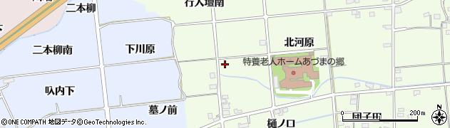 福島県福島市上鳥渡(樋ノ口北)周辺の地図