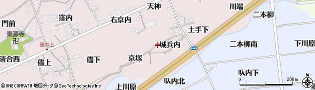 福島県福島市上名倉(城兵内)周辺の地図