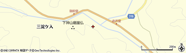 福島県伊達市月舘町布川(御前堂)周辺の地図
