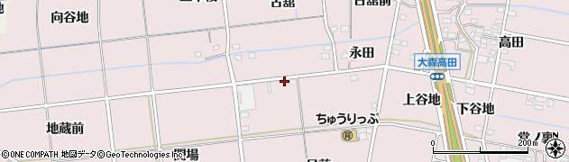 福島県福島市大森(百目木)周辺の地図