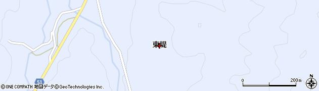 福島県伊達市霊山町上小国(東堤)周辺の地図