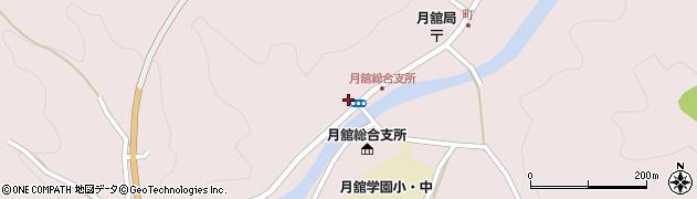 福島県伊達市月舘町月舘(町畑)周辺の地図