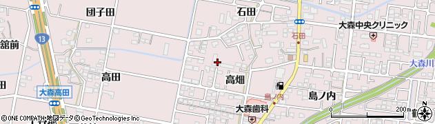 福島県福島市大森(高畑)周辺の地図