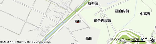 福島県福島市土船(梅原)周辺の地図