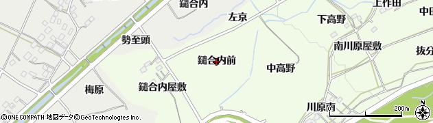 福島県福島市庄野(鑓合内前)周辺の地図
