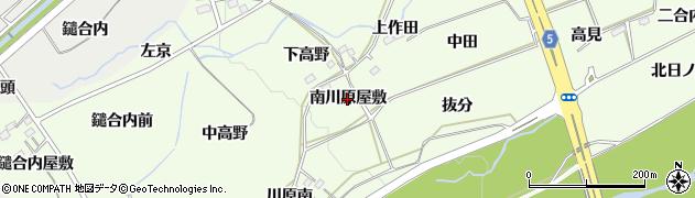 福島県福島市庄野(南川原屋敷)周辺の地図