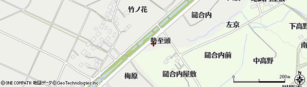 福島県福島市土船(勢至頭)周辺の地図
