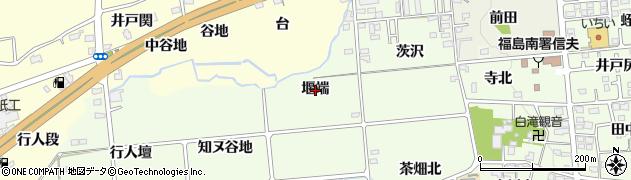 福島県福島市上鳥渡(堰端)周辺の地図