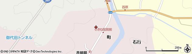 福島県伊達市月舘町月舘(町)周辺の地図