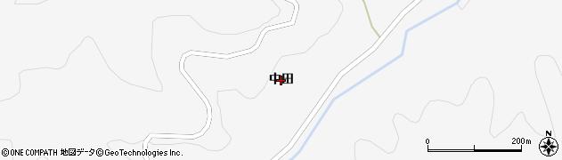 福島県福島市大波(中田)周辺の地図