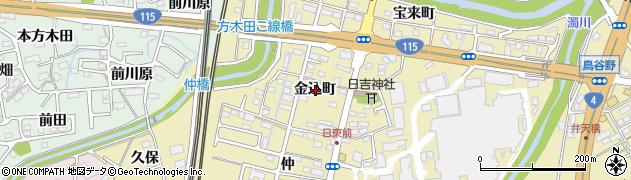 福島県福島市郷野目(金込町)周辺の地図