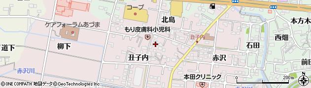 福島県福島市大森(丑子内)周辺の地図